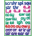 Magnetic foam letters for spelling (stage three)